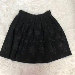 Elle Black Embellished Pleated Skirt Size 14 NWT